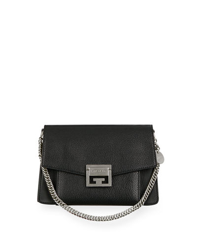 def38978ea02 Givenchy GV3 Small Pebbled Leather Crossbody Bag
