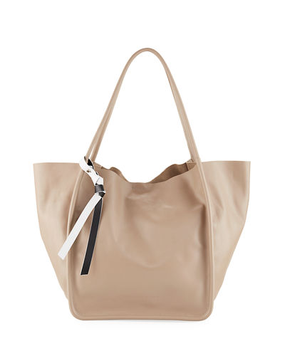 Large Smooth Leather Tote Bag