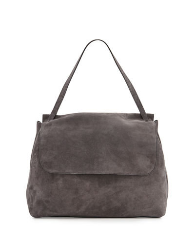 Top-Handle 14 Suede Satchel Bag
