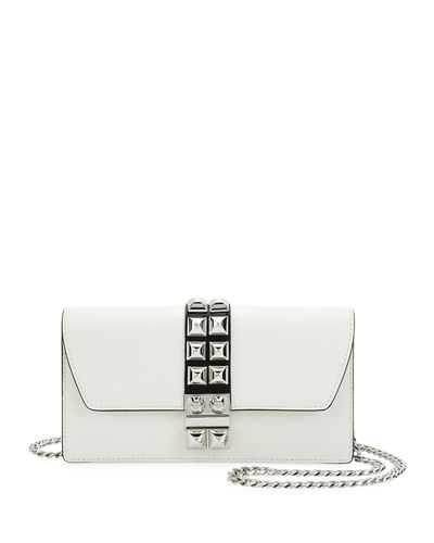 Studded Leather Wallet-on-Chain