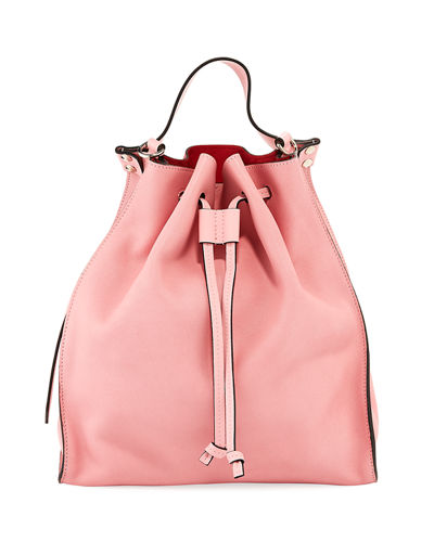 Leather Drawstring Hobo Bag