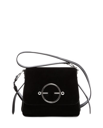 Leather & Suede Disc Shoulder Bag