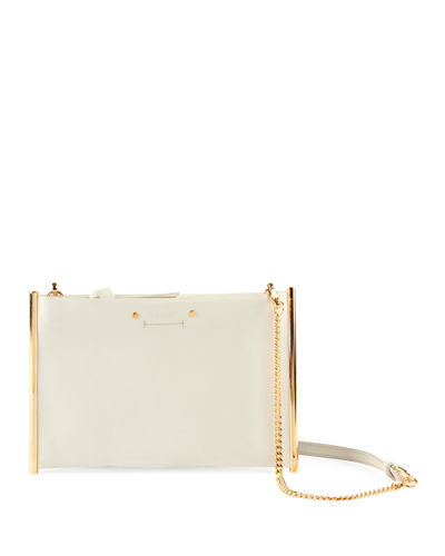 Roy Smooth Calf Leather Shoulder Bag - Golden Hardware