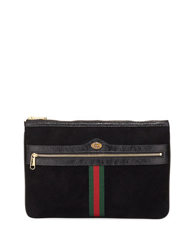 f6f4f28a29f1 Ophidia Large Suede Clutch Bag Quick Look. Gucci