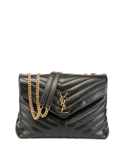 9d5fa0d31541 Loulou Monogram YSL Medium Quilted V-Flap Chain Shoulder Bag Quick Look. Saint  Laurent