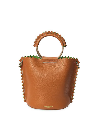 Helen Leather Bucket Bag