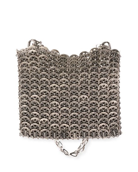 Paco Rabanne  ICONIC SMALL ANTIQUED BRASS LINK CHAIN SHOULDER BAG
