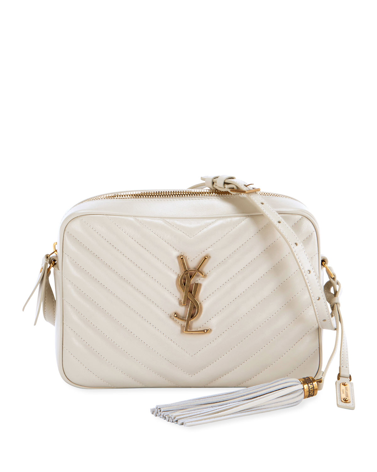 c92326addbec Saint Laurent Loulou Monogram Ysl Medium Chevron Quilted Leather Camera Shoulder  Bag - Brilliant Golden Hardware