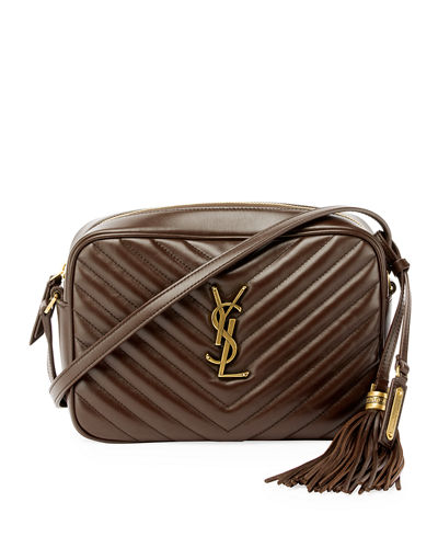 Loulou Monogram YSL Medium Chevron Quilted Leather Camera Shoulder Bag 88ff6f3298