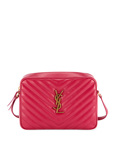 351f85bd17fa Yves Saint Laurent Calfskin Bag. Loulou Monogram YSL Medium Chevron Quilted  Leather Camera Shoulder Bag