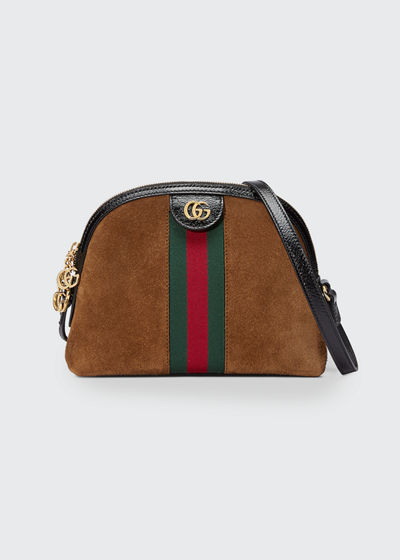 2e37fee31cd8 Gucci Linea Dragoni Suede Small Chain Shoulder Bag
