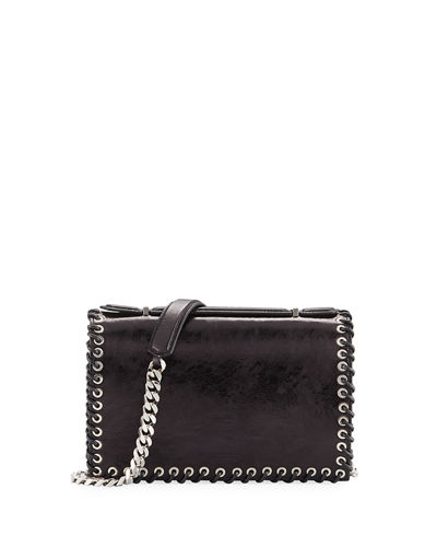 Whipstitch Leather Shoulder Bag