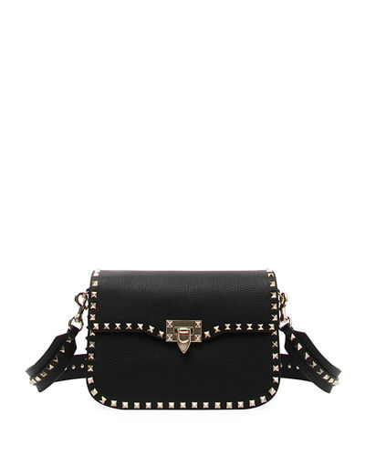 Rockstud Medium Leather Saddle Shoulder Bag