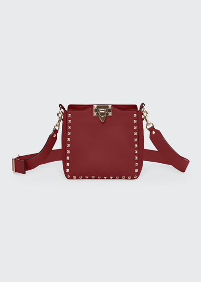 Rockstud Mini Vitello Stampa Leather Hobo Bag