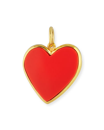 Small Enamel Heart Pendant