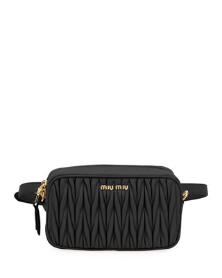Miu Miu Matelasse Leather Belt Bag k0Yi6