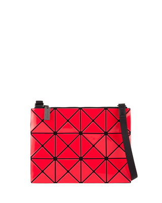 Lucent Two-Tone Crossbody Bag - Red, Pink/Red