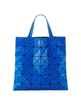 Issey Miyake Lucent Two-Tone Tote in Dark Blue