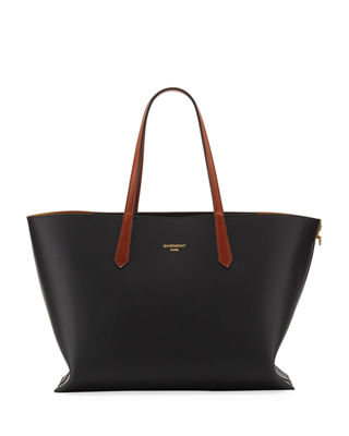 GV Medium Chain-Trimmed Leather Tote Givenchy