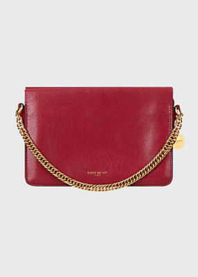 Triple Leather Crossbody Bag in Red