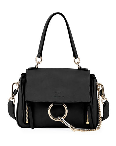 Faye Daye Mini Leather/Suede Shoulder Bag