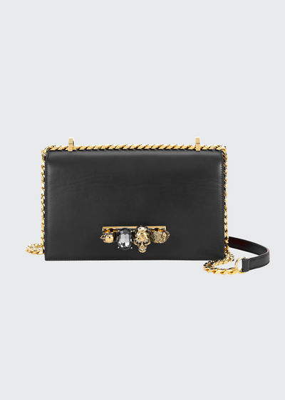 Jewelled Satchel Bag - Golden Hardware