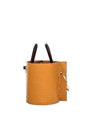 DANSE LENTE Bobbi Leather Shopper Bag in Neutrals