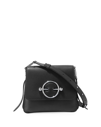 Leather Disc Shoulder Bag