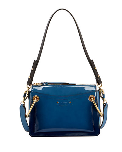 Roy Small Glossy Satchel Bag