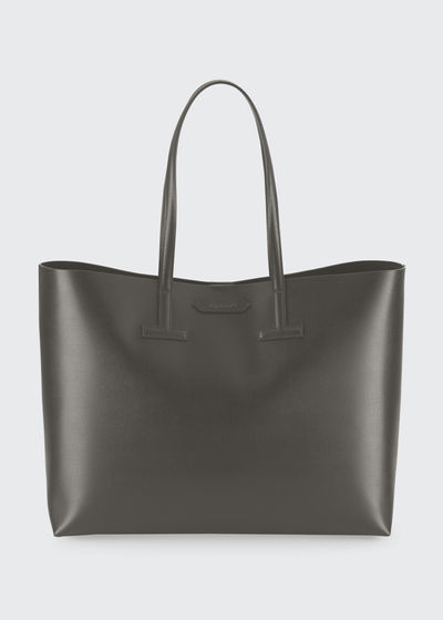 Medium T Saffiano Leather Tote Bag