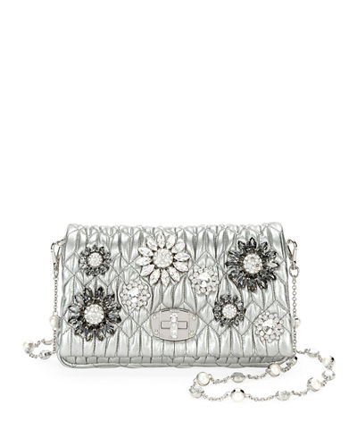 Matelassé Flowers Shoulder Bag