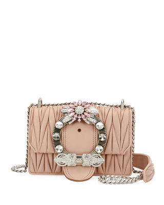 MIU LADY MATELASSÉ SHOULDER BAG