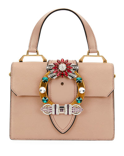 Lady Jeweled Top-Handle Bag