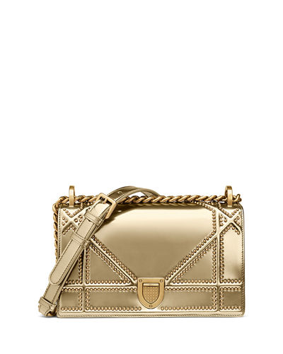 65231e0930b5 Dior Small Diorama with Metallic Studded Calfskin and Chain