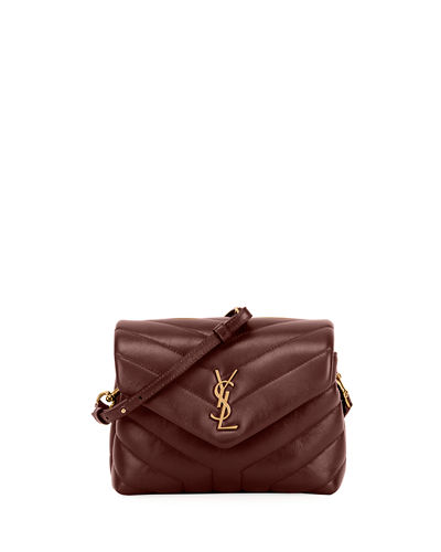 35e932d915b Loulou Monogram YSL Mini V-Flap Calf Leather Crossbody Bag Quick Look. RED. Saint  Laurent