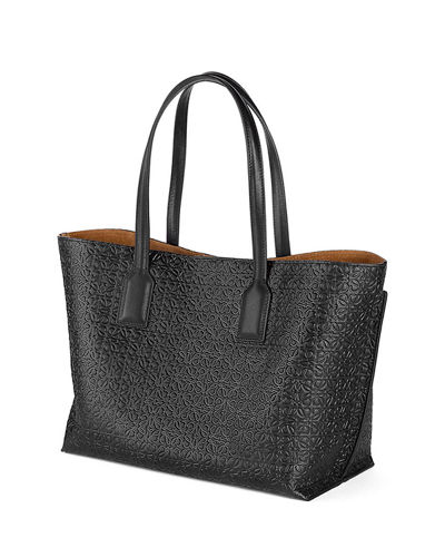 T Logo-Embossed Shopper Bag