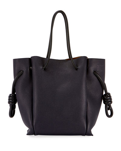 Flamenco Knot Leather Tote Bag
