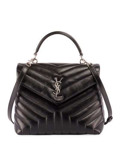 Saint Laurent Monogram YSL Loulou Quilted Shoulder Bag