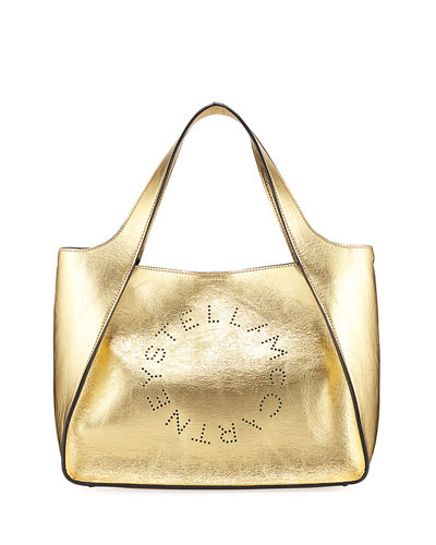 Metallic Logo Crossbody Bag