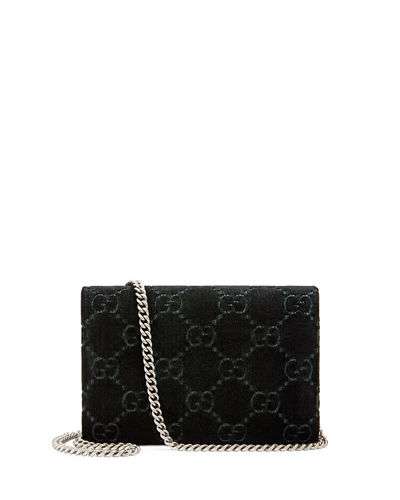Dionysus Velvet GG Supreme Wallet On Chain