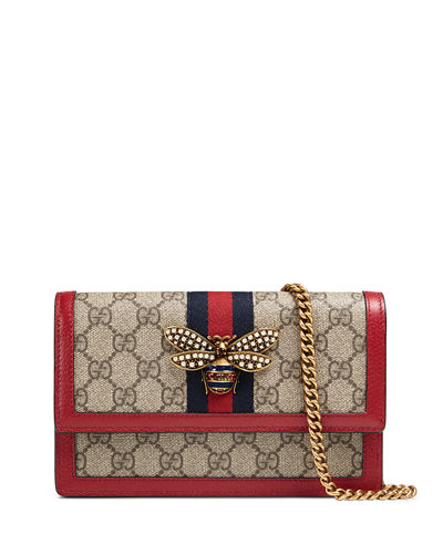 a025f003dbc23c Gucci Queen Margaret GG Supreme Wallet On Chain