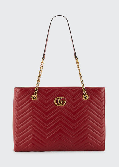 GG Marmont Medium Quilted Leather Shoulder Tote Bag