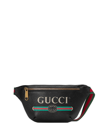 Gucci -PRINT SMALL RETRO LEATHER FANNY PACK BAG