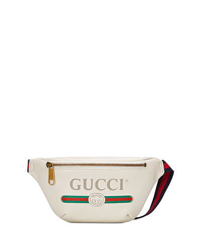 Gucci-Print Small Retro Leather Fanny Pack Bag