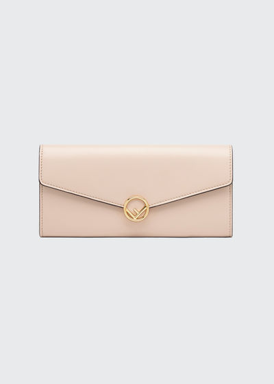 fc0d5782d987 Fendi Calf Leather Continental Flap Wallet