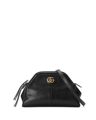 Small Re(Belle) Leather Crossbody Bag - Black
