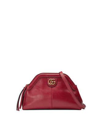Small Re(Belle) Leather Crossbody Bag - Red