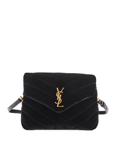 11b920554ae Saint Laurent Loulou Monogram YSL Toy Quilted Velvet Shoulder Bag