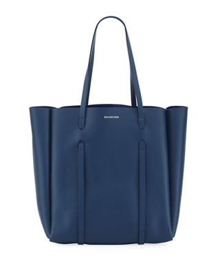 Everyday Small Reversible Leather Tote Bag, Blue Pattern