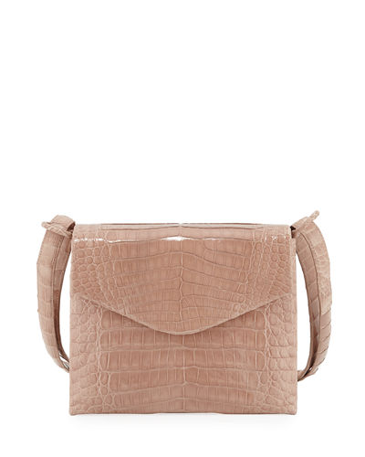 Astor V-Flap Crocodile Crossbody Bag